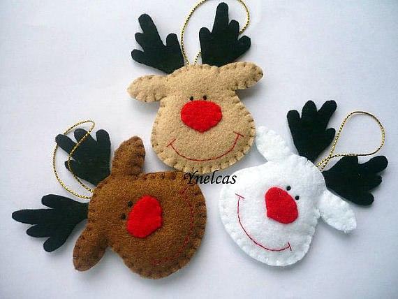 Фетровые новогодние игрушки своими руками