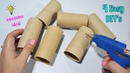 4 Ways To ReUse/Recycle Empty Tissue Roll Best Out of Waste