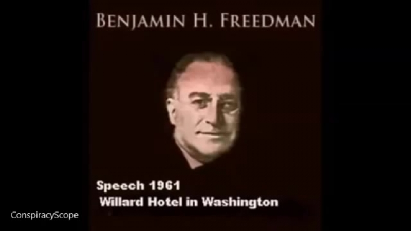 Benjamin H Freedman speech 1961 UNEDITED VERSION