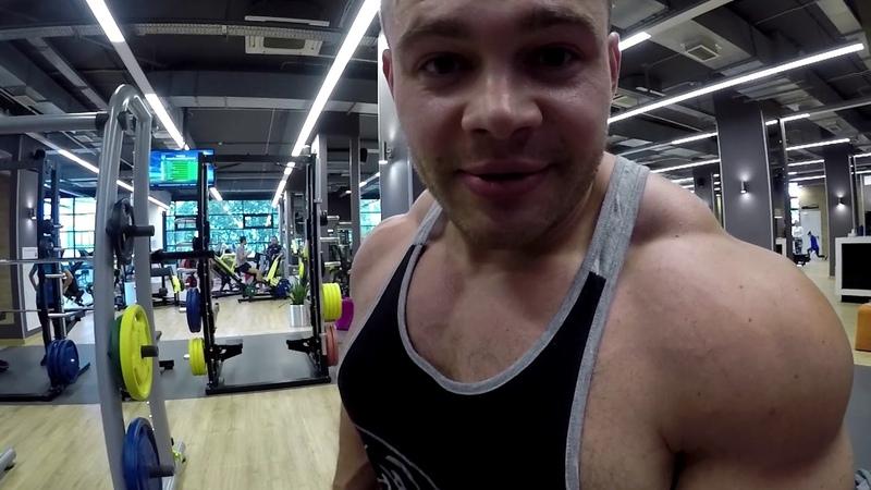 Тренировка дельт и трицепса в клубе Олимп-велотрек!