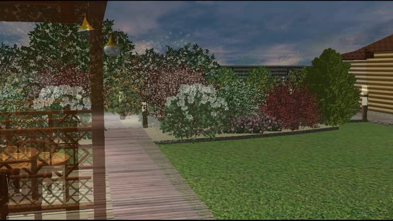 Виртуальная прогулка по спроектированному участку КП Крылья