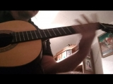 Metalcore riff on classical guitar