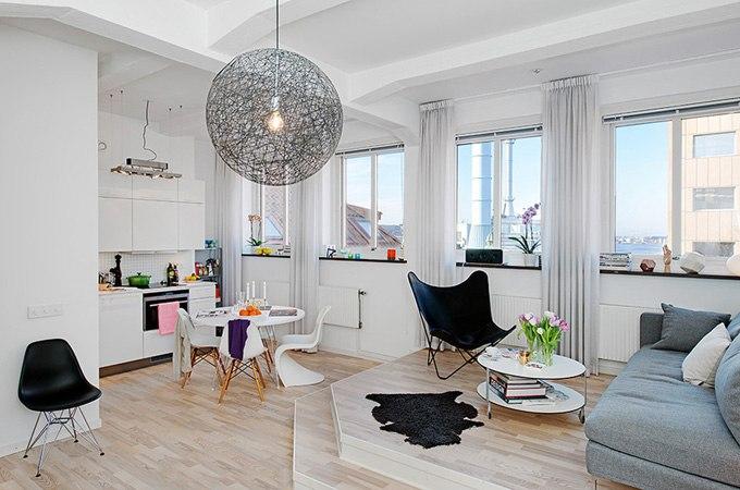Дизайн квартиры-студии 42 м в Гётеборге / Швеция - http://kvartirastudio.