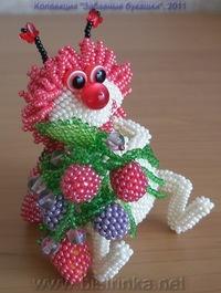 Littlhuman.ru Божья коровка из бисера схема плетения поделки божья коровка Как сделать божью коровку из бисера.