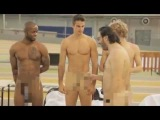 WTF ! 4 French Athletes butt naked during a photo shoot for Athena