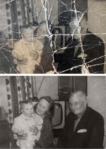 Талантливый ретушёр возвращает к жизни старые и, казалось, безнадёжно испорченные фотографии
