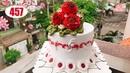 Chocolate cake decorating bettercreme vanilla (457) Học Làm Bánh Kem Đơn Giản Đẹp Hoa Đỏ (457)