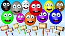 تعلم الألوان مع مفاجأة البيض مع مطرقة 3D - فيد1