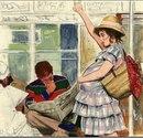 В общественном транспорте настоящие мужчины всегда сидят с закрытыми глазами…