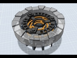 XRobots - Autodesk 123D Design CAD tutorial, Iron Man Arc Reactor for 3D printing