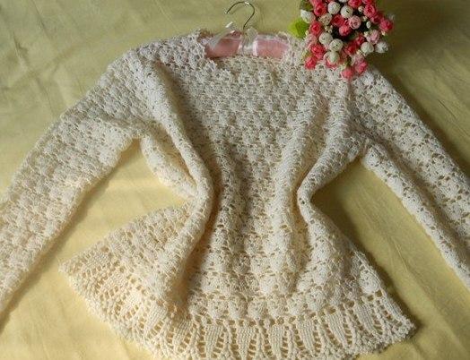 Пуловер крючком (4 фото) - картинка