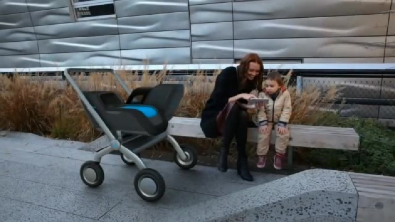 SmartBe, The self-propelling baby stroller with climate control brakes!.mp4