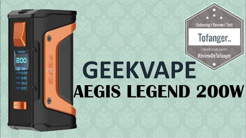GeekVape AEGIS Legend MOD ( 200W avec double batteries 18650 et température contrôle TC )