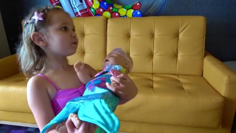 Miss Katy ВЛОГ Русалки в бассейне для Baby Born Mermaid toy tail Надувные ФЛАМИНГО Коктейли воде D