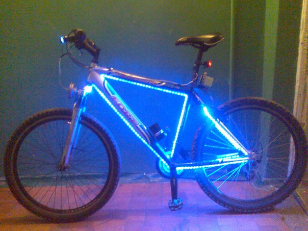Подсветка колес на велосипед велотюнинг
