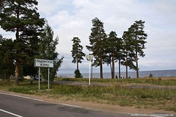 Схема-маршрут Дороги Жизни.