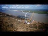 First Haliade 150-6MW offshore wind turbine erected at Le Carnet in France