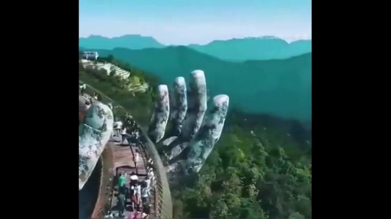 Золотой мост. Горный Курорт Ба-На-Хилл. Вьетнам.
