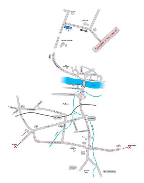 Схема проезда до аэродрома