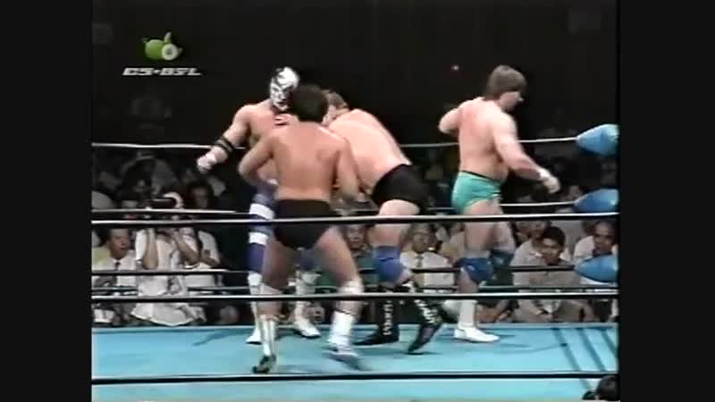 1997.07.05 - Stan Hansen/Takao Omori/Johnny Smith vs. Steve Williams/Gary Albright/The Lacrosse