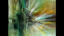 Einfach Malen-Abstract-Easy Painting-Green Glow / V114