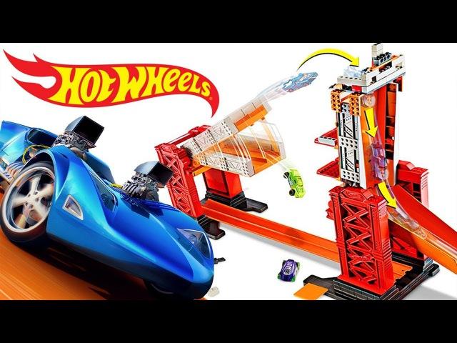 Видео про МАШИНКИ Hot Wheels! Игровой набор Раздвижной мост от ХотВилс! Игры для детей