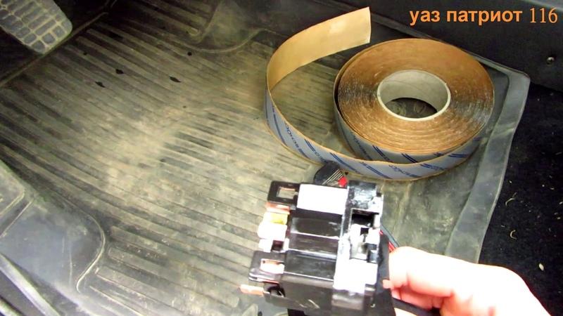 УАЗ Патриот 22 серия Устраняем скрипа руля сидения