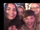 Louis with fans during day 3 of the x factor auditions. july 20, 2018.