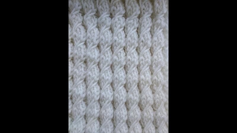 ПРОСТОЙ УЗОР спицами (имитация косы)/ Knitting Pattern imitation braid