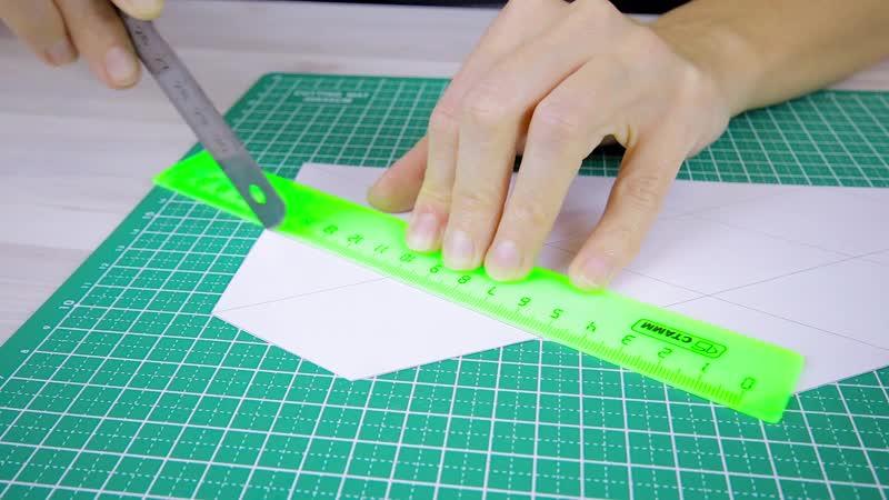 Двигающаяся 4D ОТКРЫТКА своими руками ИЗ БУМАГИ Оригами Флексагон