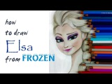 how to draw Elsa from Frozen with colorpaperprincess