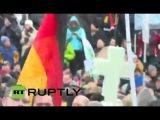 Митинг сторонников движения #PEGIDA в Дрездене 25.01.15