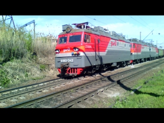 ВЛ80С-342/936 (ТЧЭ-4 Лиски-Узловая, ЮВЖД), перегон Кизитеринка-Проточный, 17 апреля 2016 года.
