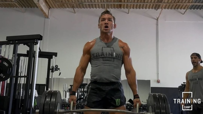 """Michael Chandler on Instagram """"workoutoftheday - bulletproof from head to toe with @peejay_cereal - Trap bar deadlift carry 5 sets —5 5 yard c..."""