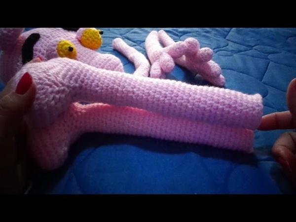 Pantera Rosa al crochet....cuarta parte: patas,cola