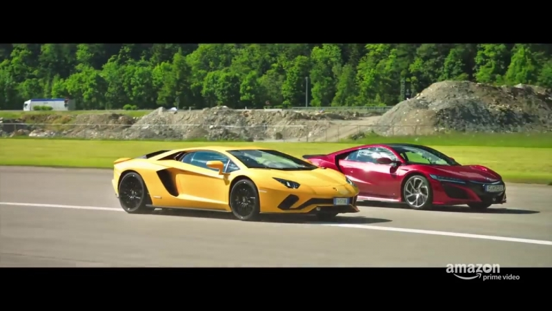 Drag Race Aventador, NSX, and Rimac
