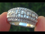 Certified Jewelry SI1G Natural Diamond Anniversary Cocktail 14k White Gold Estate Ring - C854