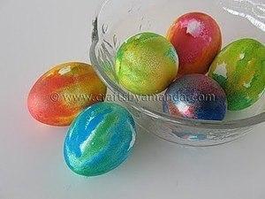 Идеи для окрашивания пасхальных яиц  1. Чтобы получить красивую...