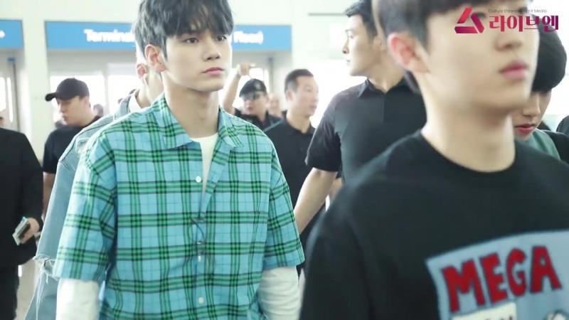 180620 Wanna One в Аэропорту Инчхон, вылет в США.