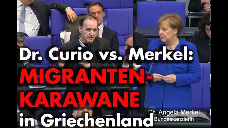 Dr. Curio befragt Merkel zur Karawane Hoffnungsschimmer