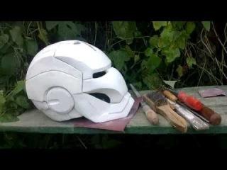 IRON MAN HELMET (Motorized, LED eyes and arc-reactor) creating