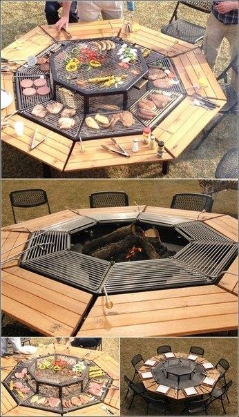 Идея стола для барбекю