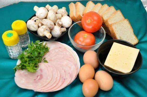 Вкусные бутерброды. Ингредиенты: ● 16 кусочков белого тостерного хлеба