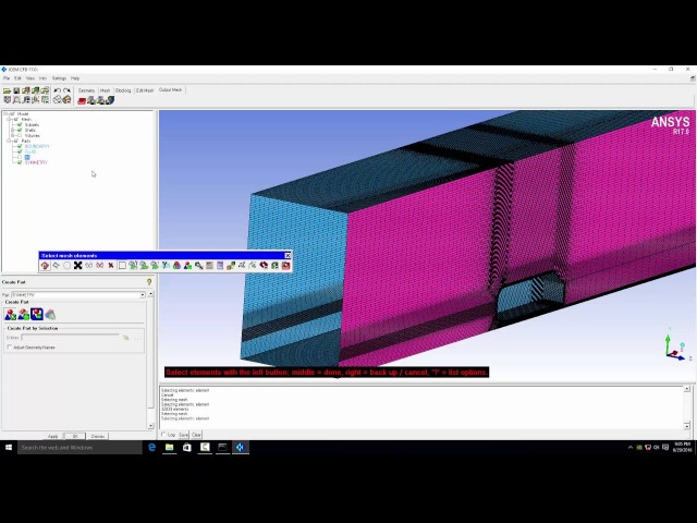 Defining boundary conditions from a single surface mesh in ICEM CFD