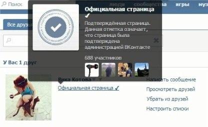 Как сделать страницу в контакте официальной фото 528