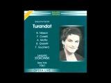 Turandot, 1961 (Live) Nilsson Corelli Moffo - Leopold Stokowski