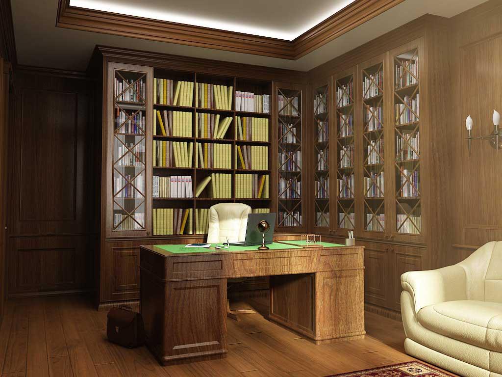Кабинет в классическом стиле, фото и идея интерьера