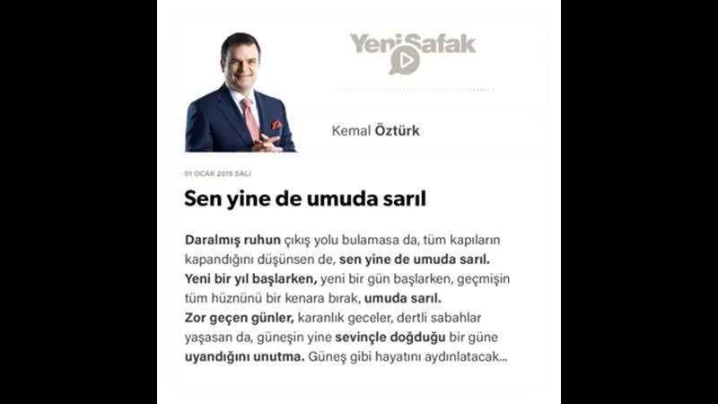 Kemal Öztürk - Sen yine de umuda sarıl - 01.01.2019