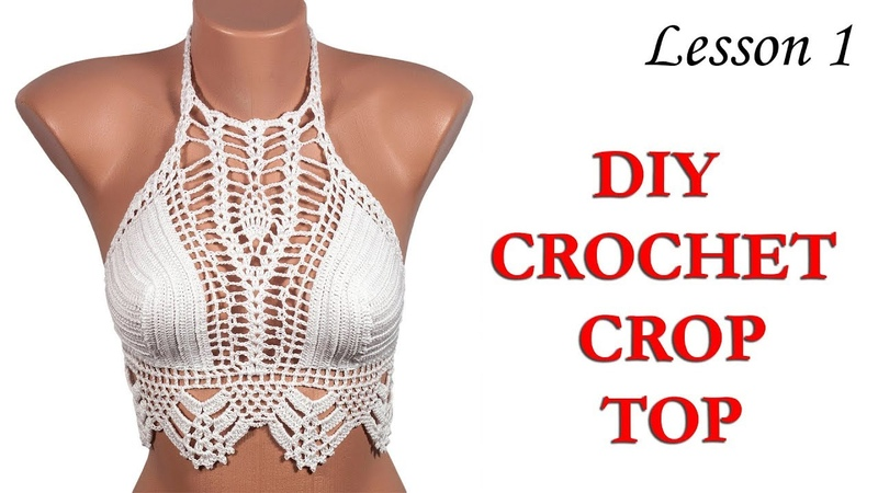 Топ крючком - MK 1 / Crochet CROP TOP BY LOVEKNITTINGS