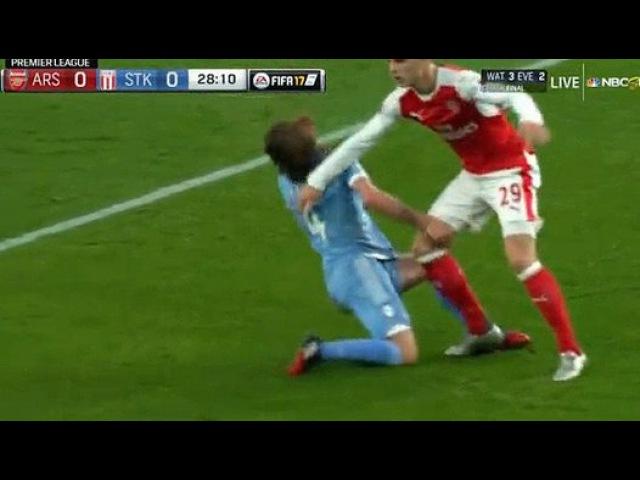 Грэм Адам Штраф Гол HD Арсенал 0 1 Сток Сити 10 12 2016